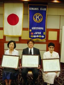 (左から)濵本さん 「ひゅーるぽん」理事長川口さん、小松さん