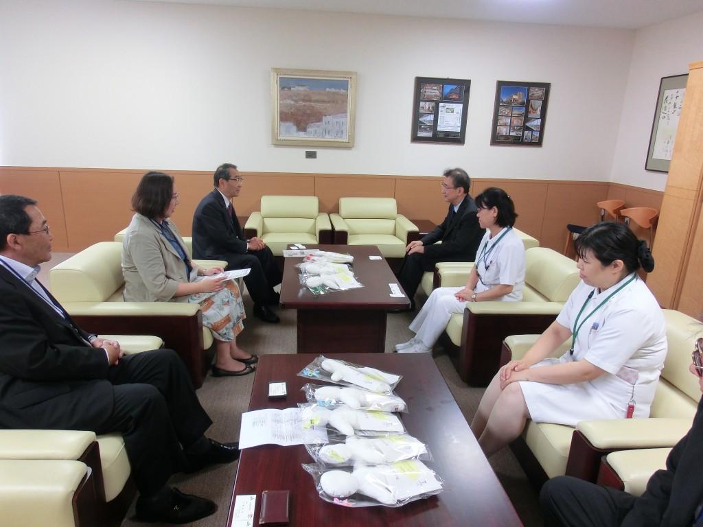 JA尾道総合病院 弓削院長、樋本看護部長にご出席いただきました